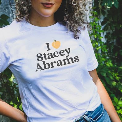 I HEART (PEACH) STACEY ABRAMS<br />TRIBLEND TEE <br />classic fit