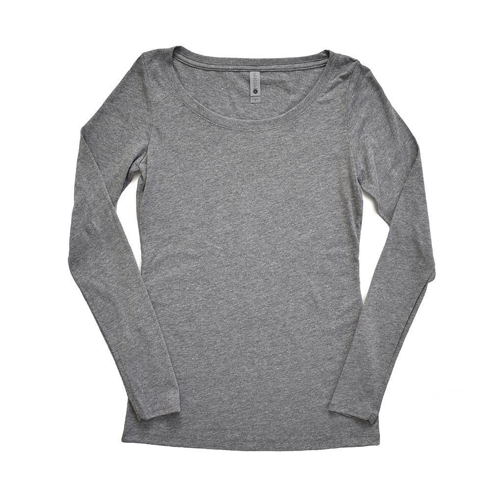WOMEN'S TRIBLEND LONG SLEEVE TEE <br /> Next Level <br /> slim fit