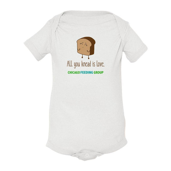ALL YOU KNEAD IS LOVE  CHICAGO FEEDING GROUP  <br />ONESIE