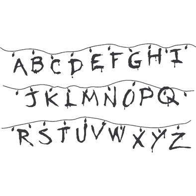 STRANGER THINGS- CHRISTMAS LIGHTS ALPHABET