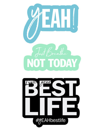 yEAHbestlife™  Stickers - humanKIND shop with a purpose