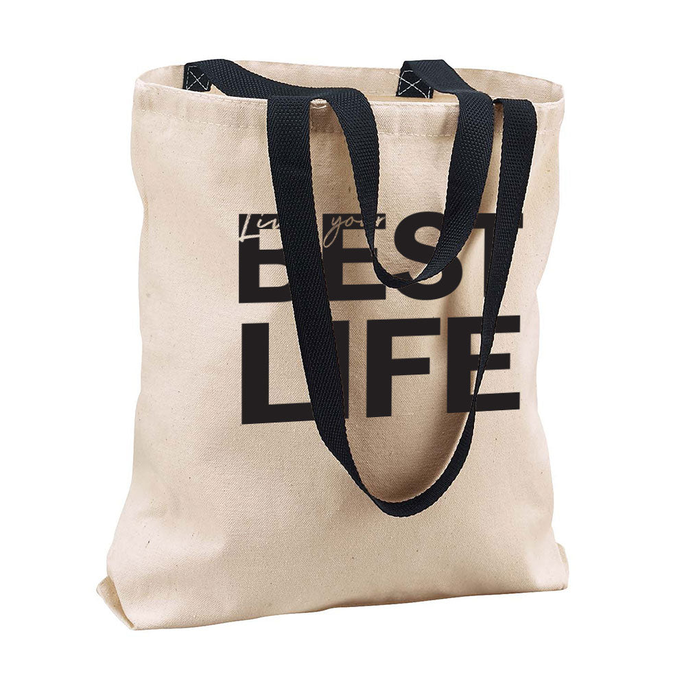 yEAHbestlife <br />cotton canvas tote <br />liberty bags - humanKIND shop with a purpose