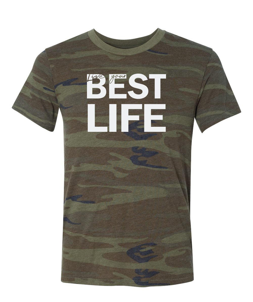 yEAHbestlife™ <br />UNISEX CAMO SHORT SLEEVE TEE <br />alternative apparel - humanKIND shop with a purpose