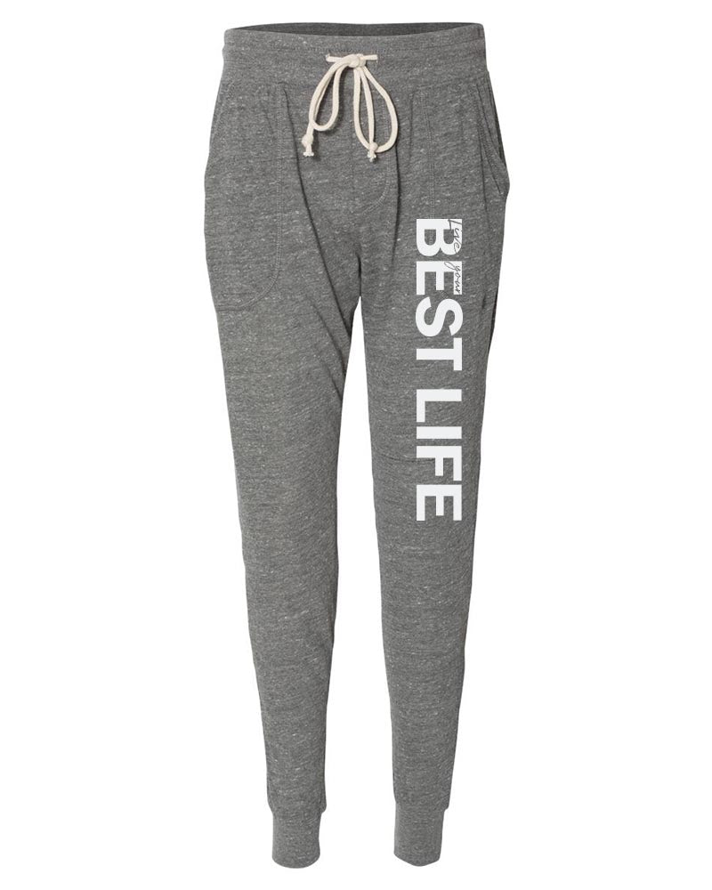 LIVE YOUR BEST LIFE WOMEN'S ECO-JERSEY JOGGER PANTS <BR/>alternative apparel - humanKIND shop with a purpose