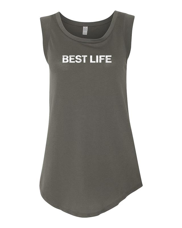 yEAHBestLife - Live Your Best Life WOMEN'S SATIN CAP SLEEVE JERSEY TEE <br />alternative apparel - humanKIND shop with a purpose