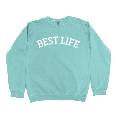 BEST LIFE <BR />COMFOT COLORS YOUTH CREWNECK SWEATSHIRT <br />boxy fit - humanKIND shop with a purpose