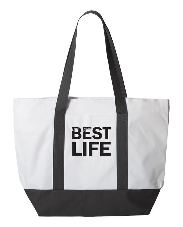 yEAHbestlife™ <br />zippered tote <br />liberty bags - humanKIND shop with a purpose