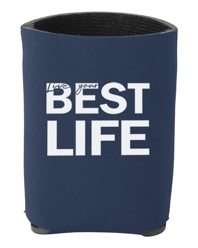 LIVE YOUR BEST LIFE <br />INSULATED CAN HOLDER <br />liberty bags - humanKIND shop with a purpose
