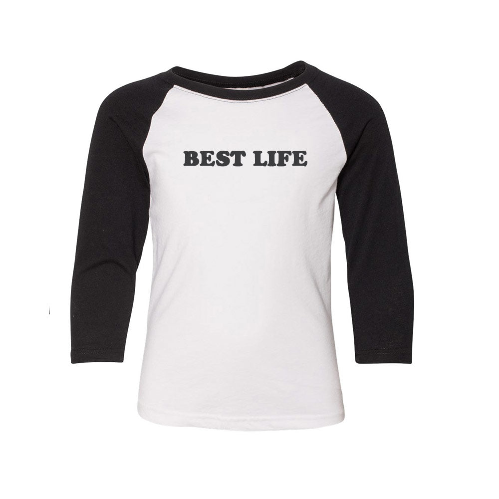 Best Life 3/4 SLEEVE RAGLAN YOUTH<br/>next level - humanKIND shop with a purpose