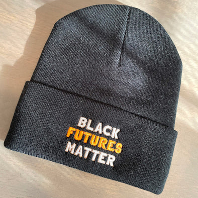 Black Futures Matter Embroidered Beanie