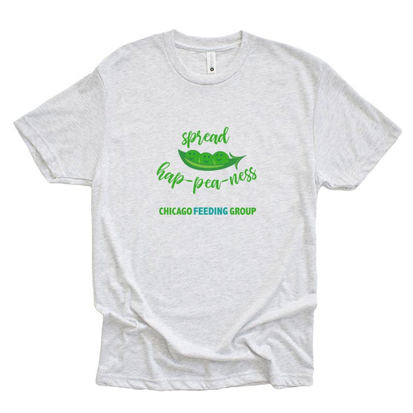 SPREAD HAP-PEA-NESS Chicago Feeding Group <br />NEXT LEVEL UNISEX TRIBLEND TEE <br />classic fit