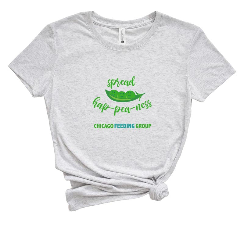 SPREAD HAP-PEA-NESS CHICAGO FEEDING GROUP  <br />NEXT LEVEL WOMEN'S TRIBLEND TEE <br />slim fit