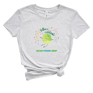 LETTUCE CELEBRATE CHICAGO FEEDING GROUP  <br />NEXT LEVEL WOMEN'S TRIBLEND TEE <br />slim fit
