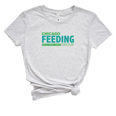 CHICAGO FEEDING GROUP  <br />NEXT LEVEL WOMEN'S TRIBLEND TEE <br />slim fit