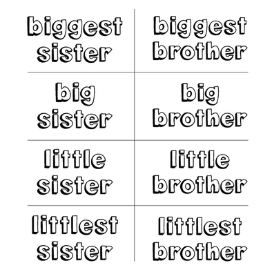 FROM BIGGEST to LITTLEST BROTHER OR SISTER - humanKIND shop with a purpose