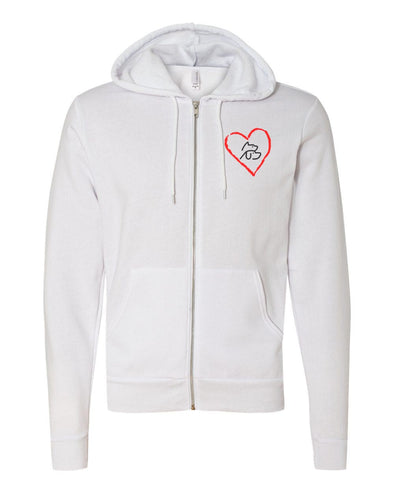 HEARTLAND UNISEX FLEECE FULL ZIP HOODIE <br />bella + canvas - humanKIND shop with a purpose