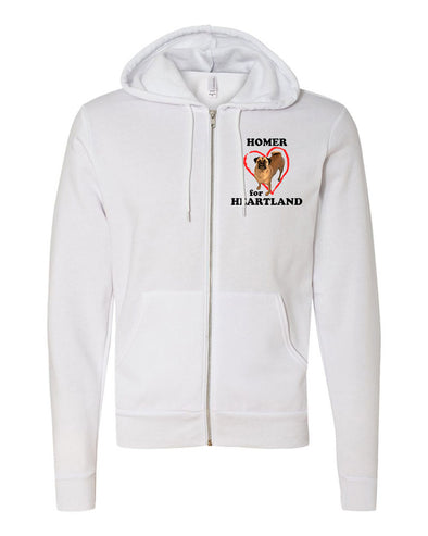 HOMER FOR HEARTLAND UNISEX FLEECE FULL ZIP HOODIE <br />bella + canvas - humanKIND shop with a purpose