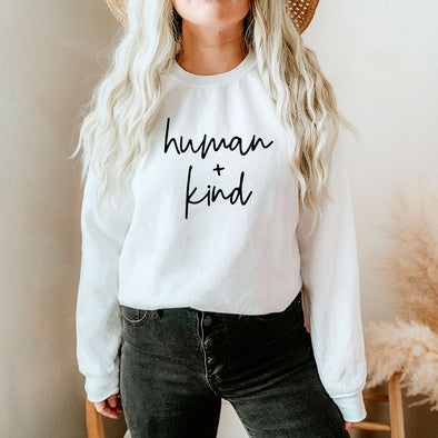 human + kind <br />UNISEX SWEATSHIRT<br /> classic fit