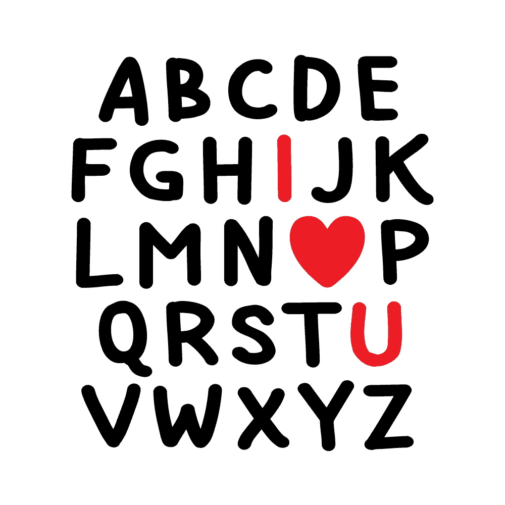 ALPHABET I HEART YOU - humanKIND