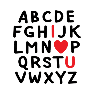 ALPHABET I HEART YOU - humanKIND shop with a purpose