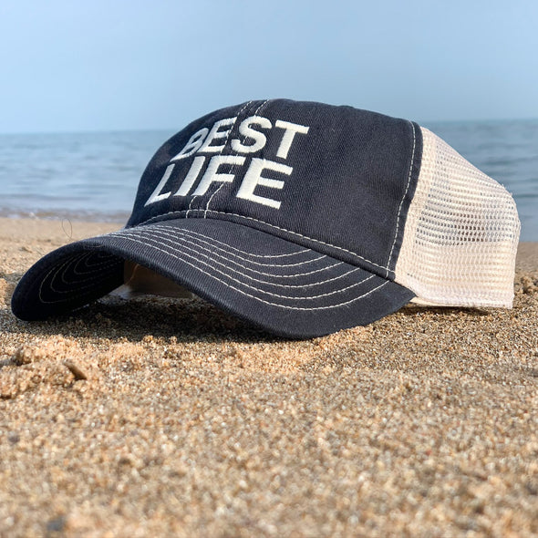 BEST LIFE<br />unstructured trucker hat - humanKIND shop with a purpose