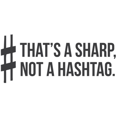 SHARP NOT A HASHTAG - humanKIND shop with a purpose