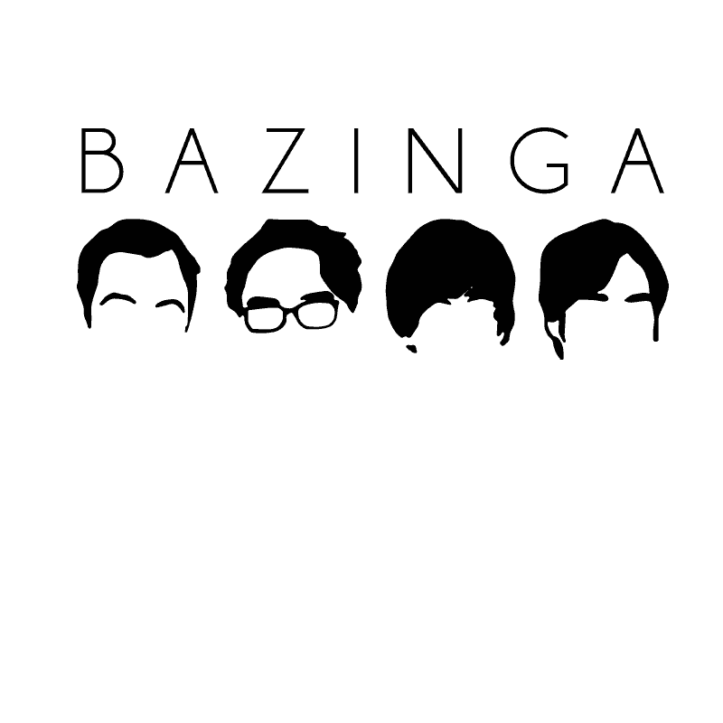 BIG BANG THEORY bazinga Heads