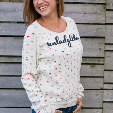 UNLADYLIKE floral sweatshirt - humanKIND shop with a purpose