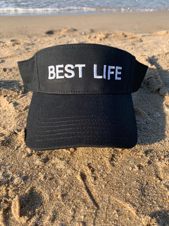 BEST LIFE<br />cotton twill visor - humanKIND shop with a purpose
