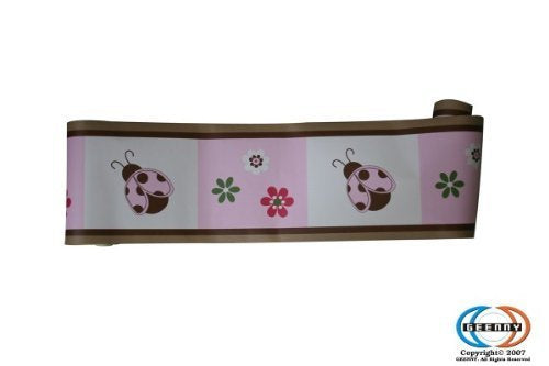 Geenny Wall Border, Boutique Ladybug Flower