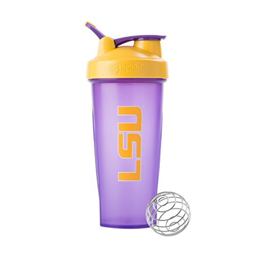 Blenderbottle Collegiate Classic 28-Ounce Shaker Bottle, Louisiana State University Tigers - Purple/Yellow