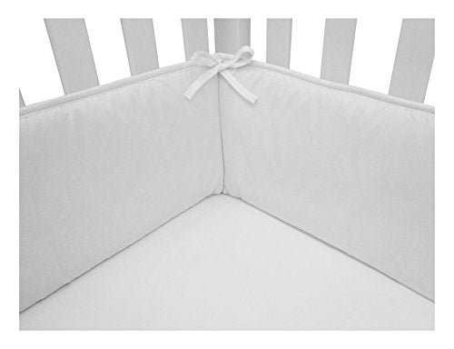 American Baby Company Cotton Percale Crib Bumper, White, For Boys And Girls