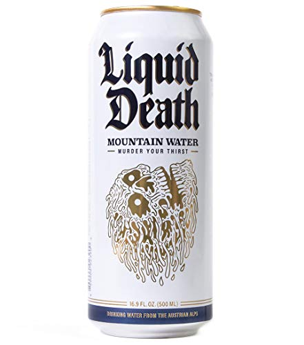 Liquid Death Mountain Water, 16.9 Oz Tallboys