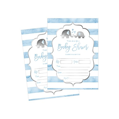 50 Fill In Baby Shower Invitations, Baby Shower Invitations Elephant, Jungle, Baby Shower Invites Boy, Baby Boy Shower Invitations, Baby Invitations, Neutral Baby Shower Invitations
