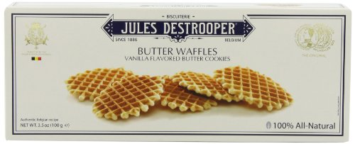 Jules Destrooper Butter Waffles, 3.52-Ounce Boxes