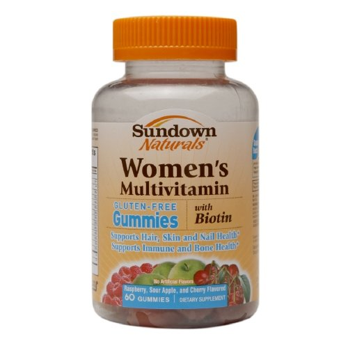 Sundown Naturals Women'S Multivitamin With Biotin Gluten-Free Gummies - 60 Count