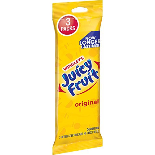 Juicy Fruit Original Chewing Gum, 15 Count