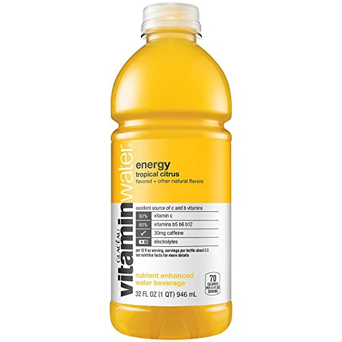 Vitaminwater Energy, Tropical Citrus, 32 Oz Bottle