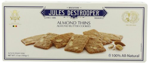 Jules Destrooper Almond Thins, 3.5-Ounce Boxes