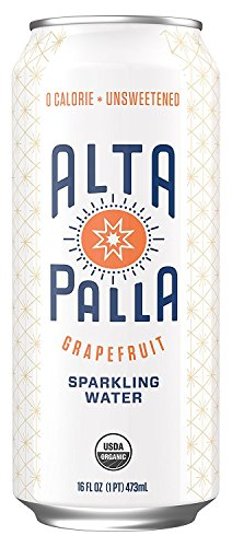 Alta Palla Grapefruit Sparkling Water, 16 Fluid Ounce Cans, 8 Count