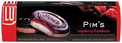 Lu Cookies Pim'S Raspberry, Soft Biscuits With Raspberry Filling, 5.29-Ounce Packages