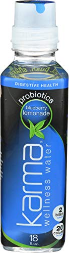 Karma Wellness Water Bev Prebiotic Blue Berry Lemonade, 18 Oz