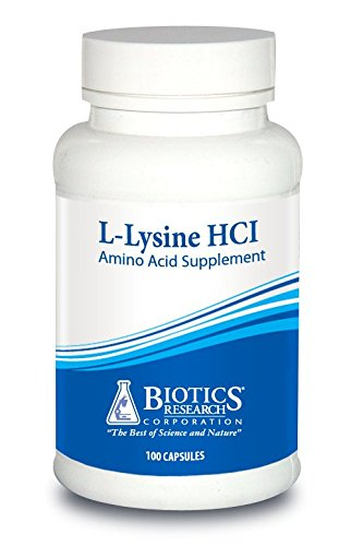 Biotics Research L Lysine Hci - Amino Acid L-Lysine Supplement Promotes Energy, Boosts Immunity, Stimulates Calcium Absorption - 100 Capsules