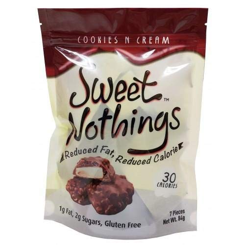Chocorite - High Protein Diet Bar | Sweet Nothings Cookies And Cream Clusters | Low Calorie, Low Fat, Sugar Free, (7/Bag)