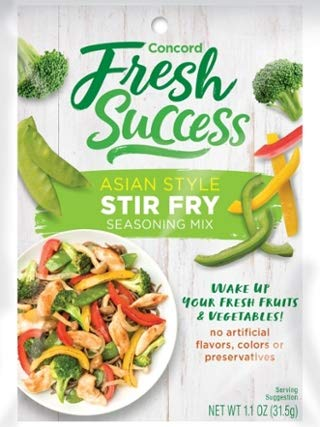 Concord Farms Asian Style Stir Fry Mix, Net Wt 1.1 Oz(Value Case Of 6 Packets)
