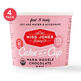 Miss Jones Baking Organic Cake In A Cup, Microwave In Under A Minute, Quick Mix, Less Mess Than A Mug: Warm Double Chocolate