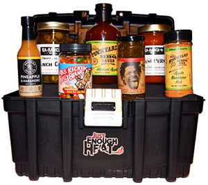 Spicy Sweet Gourmet Food Tool Box Gift Basket Set