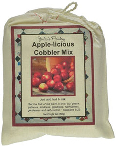 Julia'S Pantry Cobbler Mix, Apple-Icious, 9 Ounce