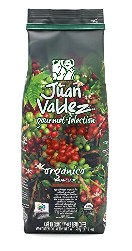 Juan Valdez Gourmet Balanced Colombian Coffee, Organic Whole Bean, 17.6 Oz