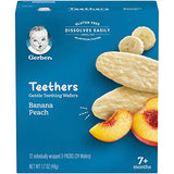 Gerber Teethers, Banana Peach, 1.7 Oz, 12 Count Box